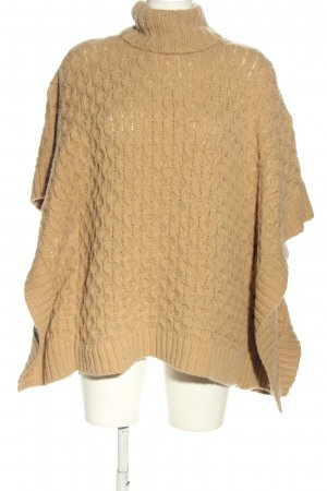 Michael Kors Poncho cream cable stitch casual look