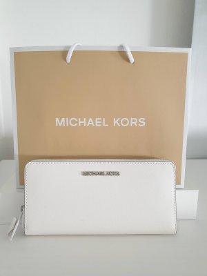 Michael Kors Portefeuille blanc-argenté cuir