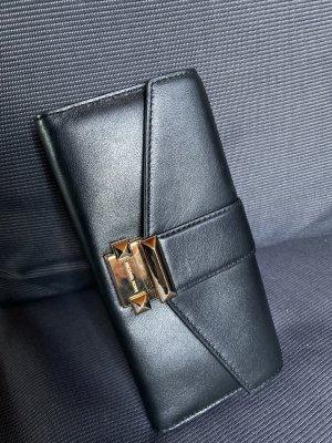 Michael Kors Cartera negro-color oro Cuero