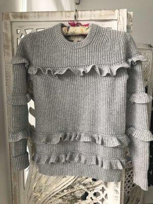 Michael Kors Sweter z grubej dzianiny jasnoszary-srebrny Wełna