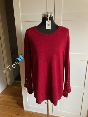 Michael Kors Pullover Pulli Top Shirt Bluse  Bordeaux Rot Gold M 38 8