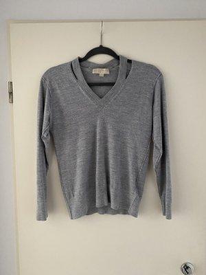Michael Kors Jersey con cuello de pico gris
