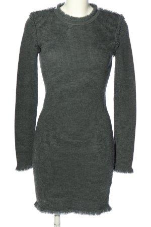 Michael Kors Abito maglione grigio chiaro puntinato stile casual