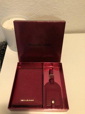 Michael Kors Custodie portacarte rosso scuro-oro Pelle