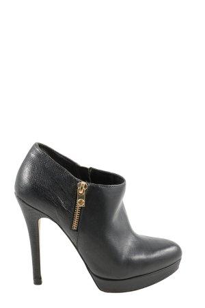 Michael Kors Reißverschluss-Stiefeletten schwarz-goldfarben extravaganter Stil