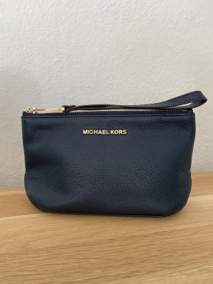 Michael Kors Rhea Zip Pouch Clutch Navy Blue