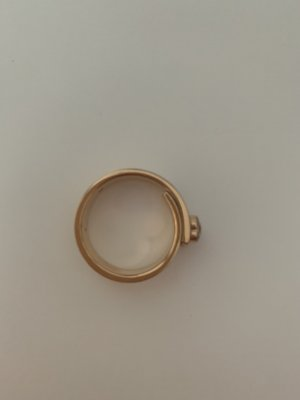 Michael Kors Ring with Decorative Stone rose-gold-coloured