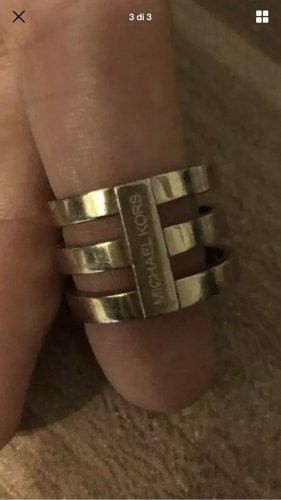 Michael Kors Anillo de cuentas color oro