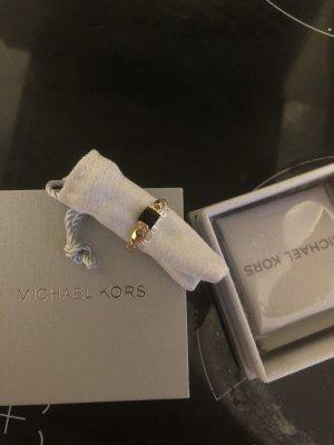 Michael Kors Anillo de plata negro-color oro