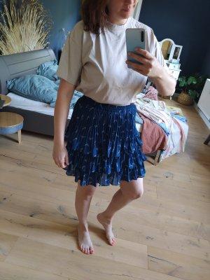 Michael Kors Rok met hoge taille wit-blauw