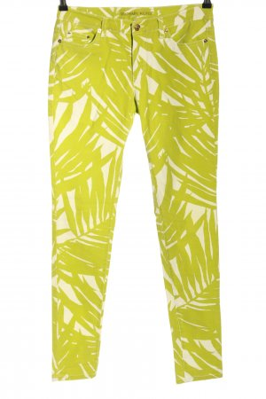 Michael Kors Drainpipe Trousers green-natural white abstract pattern casual look