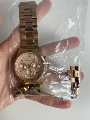 Michael Kors Watch With Metal Strap rose-gold-coloured-gold-colored