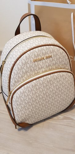 Michael Kors Backpack Trolley sand brown-cream leather