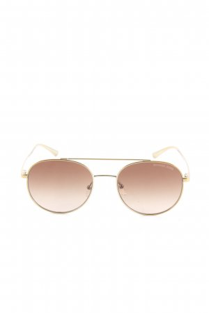 Michael Kors runde Sonnenbrille goldfarben Casual-Look