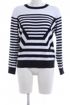 Michael Kors Crewneck Sweater black-white striped pattern casual look