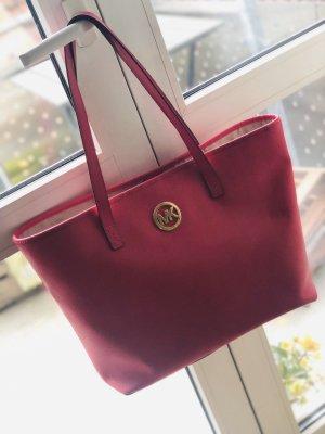 Michael Kors Shoulder Bag magenta-raspberry-red leather
