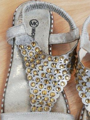 Michael Kors Sandalen gold 35/36 Sandaletten Flacheschuhe bequemeschuhe glitzerschuhe Michael Kors Schuhe