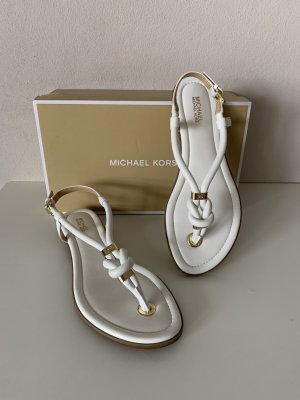 Michael Kors Teenslippers wit-goud