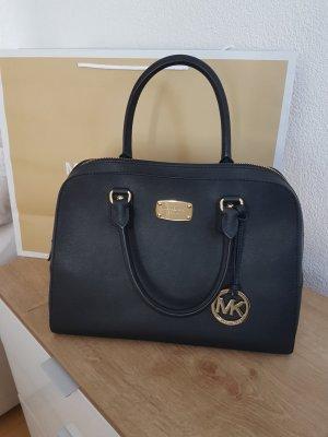 Michael Kors Sandrine Tasche satchel Handtasche schwarz gold NEU