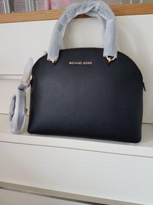 Michael Kors satchel Handtasche Tasche Emmy schwarz gold Neu Leder