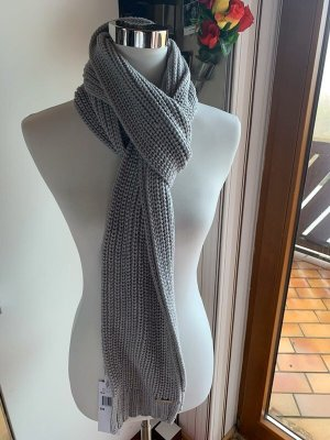 Michael Kors Crochet Scarf grey-light grey