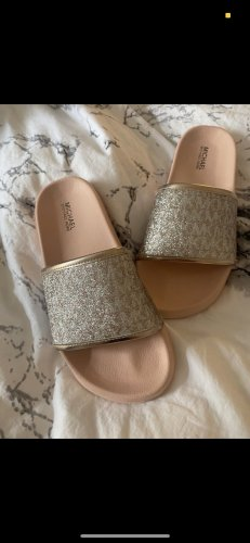 Michael Kors Flip-Flop Sandals pink-silver-colored
