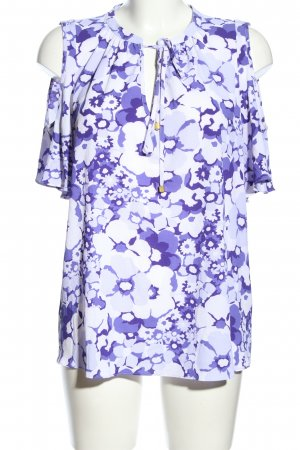 Michael Kors Schlupf-Bluse lila-weiß Blumenmuster Casual-Look