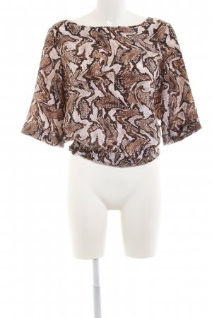 Michael Kors Slip-over Blouse brown-natural white allover print casual look