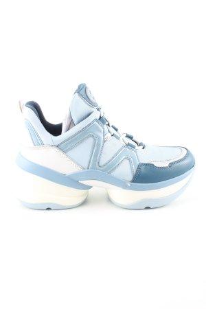 Michael Kors Basket à lacet bleu-blanc style décontracté