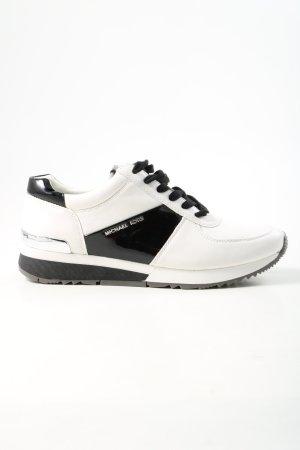 Michael Kors Sneakers met veters wit-zwart atletische stijl