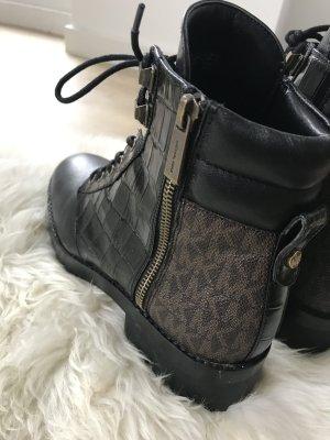 Michael Kors Aanrijg laarzen zwart-brons Leer