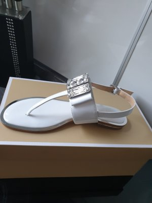 Michael Kors Strapped High-Heeled Sandals white