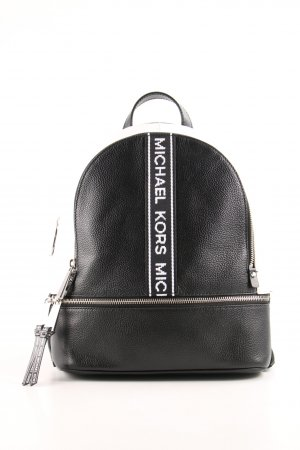 "Michael Kors Schulrucksack ""Rhea Zip Medium Backpack Black/Optic White"""