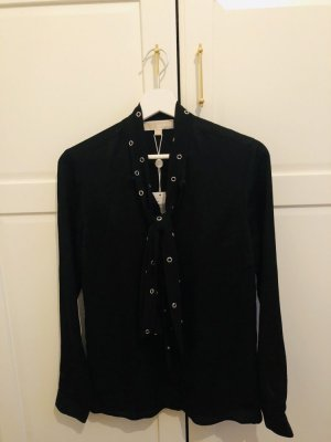 Michael Kors Tie-neck Blouse black silk
