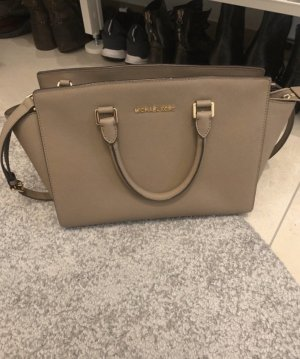 Michael Kors Selma Handtasche Taupe mit Gold