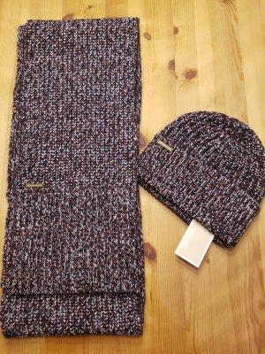 Michael Kors Set Mütze und Schal Neu mit Etikett echte Lammwolle