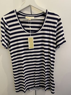 Michael Kors T-shirt bleu foncé-blanc
