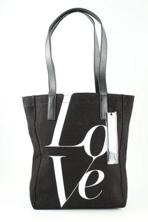 Michael Kors Shopper schwarz-weiß Schriftzug gedruckt Casual-Look