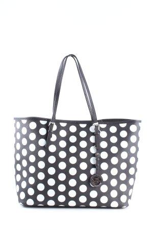 Michael Kors Shopper zwart-wit gestippeld patroon casual uitstraling