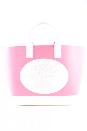 Michael Kors Shopper pink-white printed lettering casual look