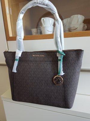 Michael Kors Shopper Handtasche braun grün gold Neu original