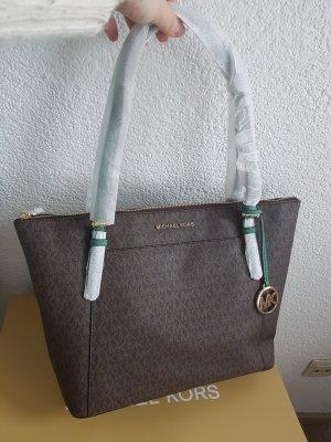 Michael Kors Shopper Tasche Handtasche braun grün gold Neu