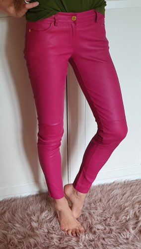 Michael Kors skinny Lederhose lederleggings blogger colour trend pink