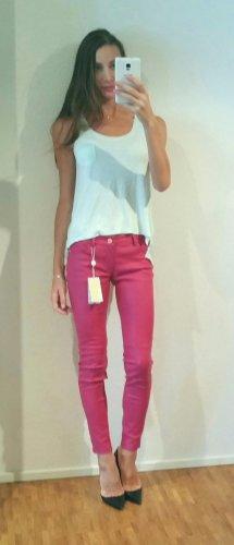 Michael Kors skinny Lederhose lederleggings blogger colour trend pink