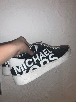 Michael Kors Basket à lacet noir-blanc