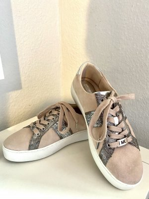 Michael Kors Lace-Up Sneaker silver-colored-pink leather