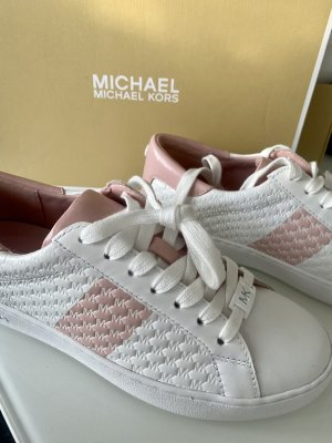 Michael Kors Sneaker stringata color oro rosa-bianco