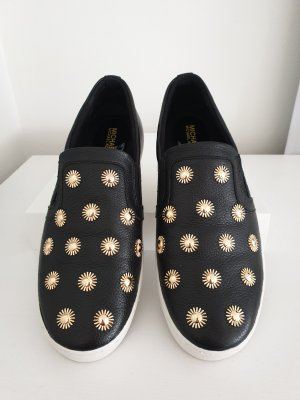Michael Kors Zapatillas deslizantes negro-color oro Cuero