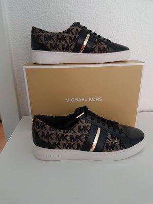 Michael Kors Sneaker Catelyn Stripe Größe 38 US 8 M schwarz gold Neu