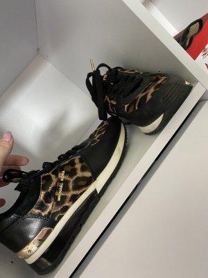 Michael Kors Sneaker stringata nero-marrone chiaro